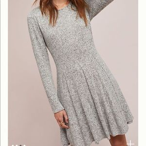 Anthropologie Dolan Neige Brushed Fleece Dress